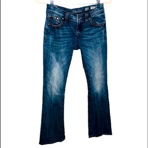 Miss Me Jeans.size 28.  Mid-Rise boot inseam 31